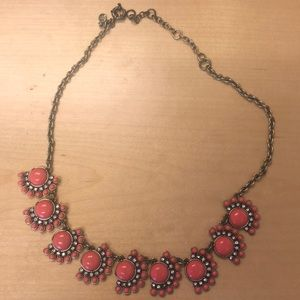 J.Crew gold and coral necklace